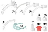 KAN tracheostomy tube without cuff, fenestrated